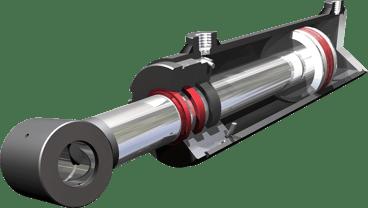 lubrificazione cilindro pneumatico sezione elementi di tenuta