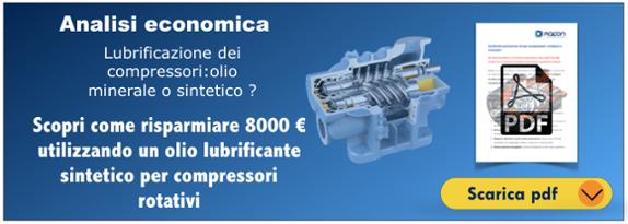 Analisi economica olio sintetico e minerale per compressori rotativi